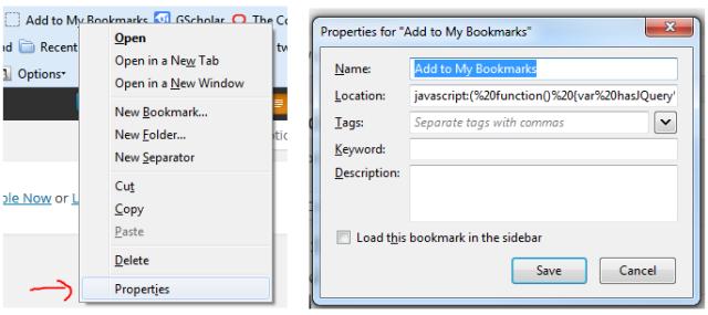 Bookmark Firefox